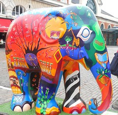 Covent Garden Elephant (tickatape) Tags: elephant colour london nikon bright vibrant coolpix compact 2010 s3000