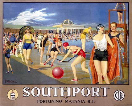 Southport travel poster