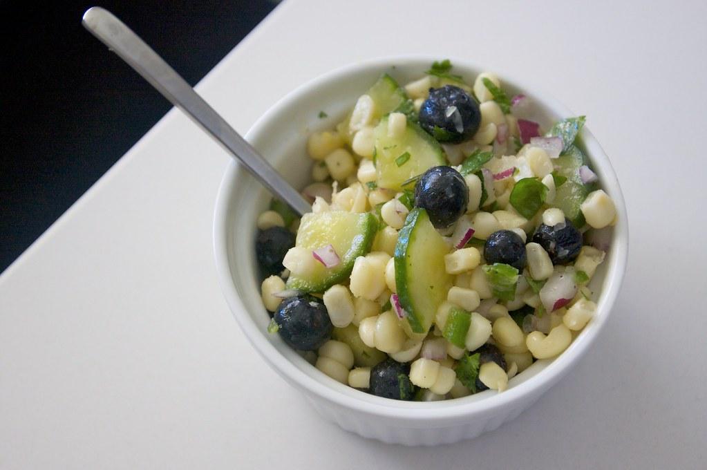 Blueberry Corn Salad - Shutterbean