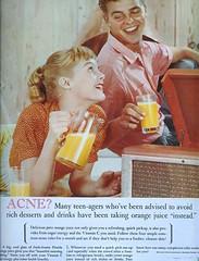 Acne? (sugarpie honeybunch) Tags: vintage magazine advertising 60s ad 1960s orangejuice seventeen acne carollynley