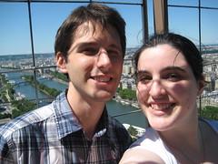 Nous en haut de la tour