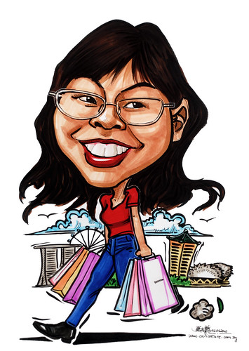 Caricatures for NUS -shopaholic