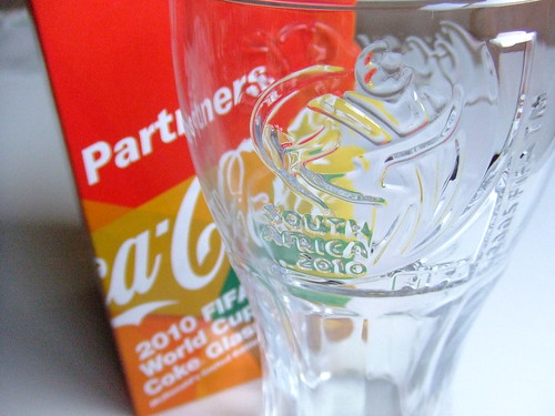 2010 FIFA World Cup Coke Glass / McDonald's limited Edition