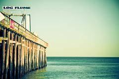 ~ summer fun. [Explore] (CarolynsHope) Tags: ocean wood blue summer sky color water fun pier seaside ride teal logflume seasideheights