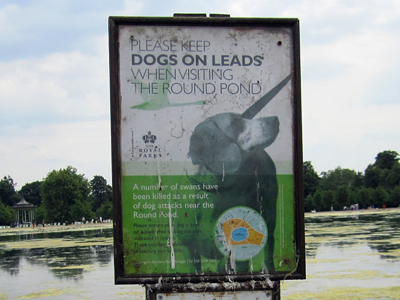 Sign at Hyde Park, London