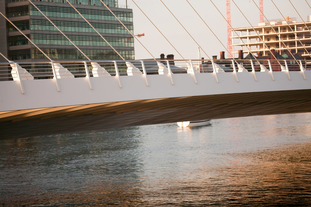 The Samuel Beckett Bridge Is Capable Of Opening Through An angle Of 90%
