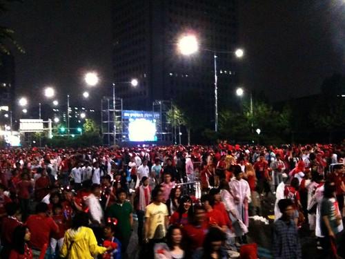 Street Cheering at Coex: Korea vs Greece