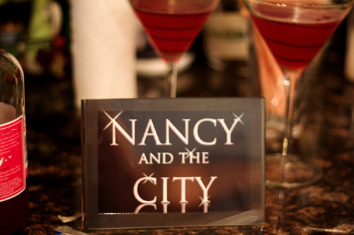 It isn't Nancy and the City without some cocktails!