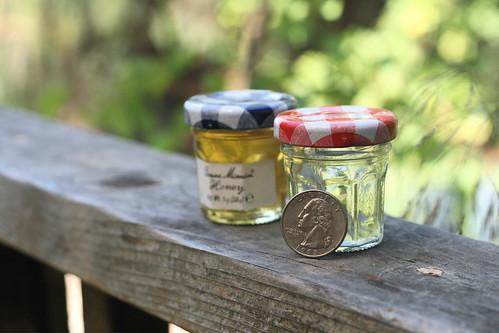 Adorable mini Bonne Maman jars.