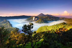 Bromo-Tengger-Semeru National Park (tropicaLiving - Jessy Eykendorp) Tags: morning light nature fog sunrise canon indonesia landscape photography eos volcano nationalpark sand asia southeastasia day desert outdoor explore caldera lee malang filters frontpage 1022mm gravel surabaya bromo active tengger mountbromo canon1022mm mountsemeru eastjava 50d mountbatok flickrhivemind regionwide mountpananjakan flickrhivemindgroup exploreyourtaginfiveprimeorg