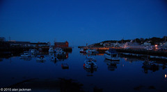 Rockport Harbor at Dusk (alan jackman) Tags: ocean night harbor boat dusk northshore rock