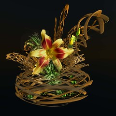 Playing Around (freetoglow (Gloria)) Tags: flowers photoshop fractal visualart artisticexpression incendia