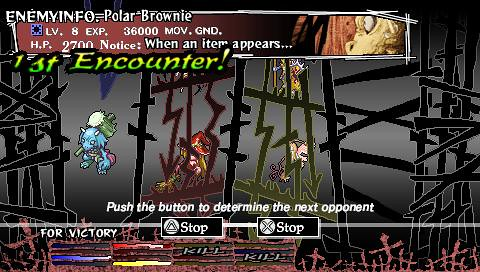 Knights in the Nightmare PSP: monster slot machine
