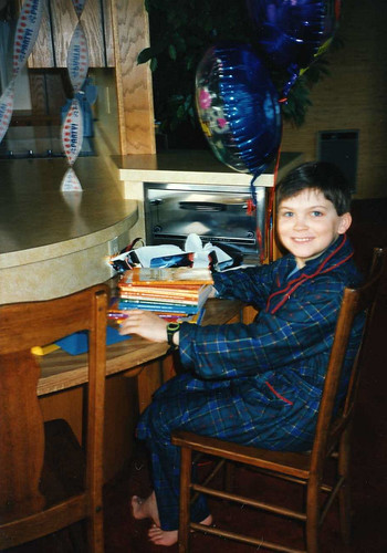 Will's 10th birthday morning, 1995.