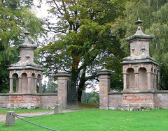 Chillingham Castle (Louise and Colin) Tags: old autumn trees england castle english heritage history architecture rural countryside gate entrance culture northumberland northumbria autumnal chillingham chillinghamcastle