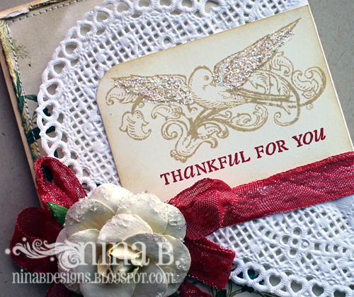 FAF Card Thankful Detail