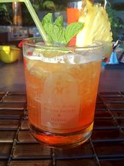 Mai tai (Piemouth) Tags: etched glass monkey drink mint maui liquor pineapple rum
