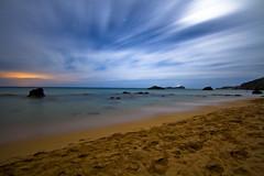 Dawn (ibzsierra) Tags: blue sea sky cloud mer beach azul canon dawn mar mare alba playa amanecer ibiza cielo 7d eivissa nube baleares digitalcameraclub aigesblaques