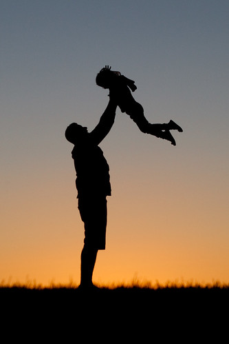 Daddy's little girl silhouette edit