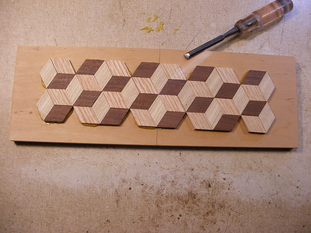 Making a Tumbling Block Cribbage Board #9