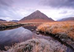 Buachaille Etive Mor. Again. (PcStumpy) Tags: autumn mountain snow reflection water landscape scotland october frost glencoe buachailleetivemor nikond700 pcstumpy andymoss