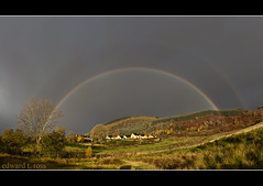 over the rainbow (E.........'s Diary) Tags: autumn t gold ross rainbow north perthshire olympus double edward highland e eddie dull e620