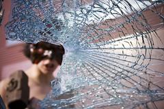 Istinto_I (LoRuShots) Tags: woman broken glass hammer flesh female naked nude hands mask crash body touch anger rage identity destroy primal instinct