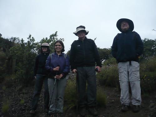 Rebeca, Verónica, Gabriel y Pancho