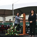 Joanna Dacanay ringing the Commencement  Bell