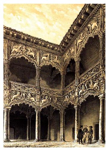 026-Palacio de Guadalajara-Patio de los leones-Recuerdos y bellezas de España Castilla la Nueva Vol 2