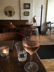 Rosé at The Walton on College St (Flash of Perception*) Tags: wine rosé bar texture toronto mirrors wood candlelight