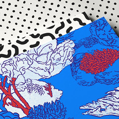 "Details of my illustration ""coral reef"" (chuvardina) Tags: illustration art artwork design popart pop water sea corals ocean"