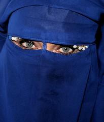 deep water 2 (Fia by Marv) Tags: niqab woman verhüllt veil veiled verschleiert vividstriking eyes augen oriental tücher schleier scarf frau colour portrait