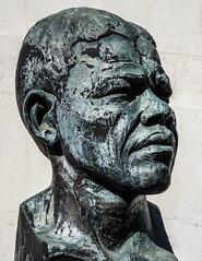 Nelson Mandela Sculpture (Southbank - London) (Olympus OM-D EM1-II & M.Zuiko 12-100mm f4 Pro Zoom) (1 of 1) (markdbaynham) Tags: sculpture bust figure bronze nelson mandela southbank london londonist londoner urban metropolis street uk gb oly olympus omd em1 em1ii em1mk2 csc evil mirrorless m43 mft m43rd micro43 mzd mz zd mzuiko 12100mm f4 pro travelzoom zoom