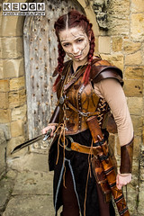 IMG_9475.jpg (Neil Keogh Photography) Tags: silver whitbygothweekend steampunk sword shoulderguards viking brown steampunkdress armguards red warrior goth armour blouse whitby top female woman whitbygothicweekendapril2017 facepaint black gothic trousers leather waistcoat white