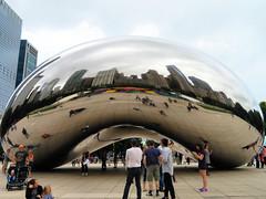Cloud Gate, Chicago, Illinois (duaneschermerhorn) Tags: art artwork installation sculpture anishkapoor kapoor contemporaryart people outdoors outdoorart outdoorsculpture reflection reflective glass mirror distortion