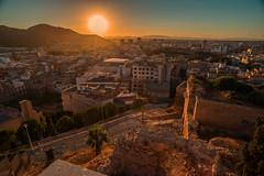 The sun sets over the city.... (Dafydd Penguin) Tags: castillo de la concepcion cartagena spain roman sun sets sunset setting city urban view town southern murcia nikon d610 nikkor 20mm af f28d