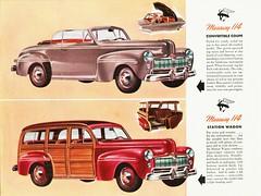 1946 Mercury 114 Convertible & Station Wagon (Canada) (aldenjewell) Tags: canada mercury brochure stationwagon 114 1946 convertiblecoupe