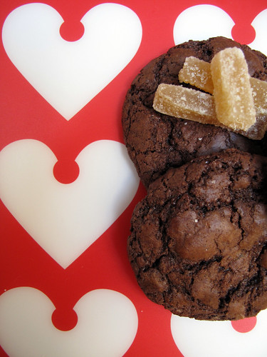 Biscotti cioccolato e zenzero candito