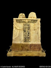 The Canopic Chest found in KV62 - The Tomb of King Tut (Sandro Vannini) Tags: art photography egypt viscera tutankhamun mummification alabaster beliefs egyptians egyptianmuseum cairomuseum kv62 canopicjars heritagekey sandrovannini canopicchest humanheadedstoppers