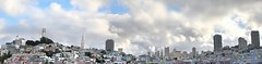san francisco land panorama (pbo31) Tags: sf sanfrancisco california above city blue sky urban panorama white color northerncalifornia architecture clouds america nikon december view tripod wide over overcast panoramic structure coittower northbeach bayarea fishermanswharf transamerica d200 telegraphhill 2009 russianhill sanfranciscocounty