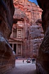Almost there (JoLoLog) Tags: pink sandstone rocks petra jordan lorien thetreasury sevenwondersoftheworld ancientcity thesiq nabataeans canonxsi theancientcityofpetra