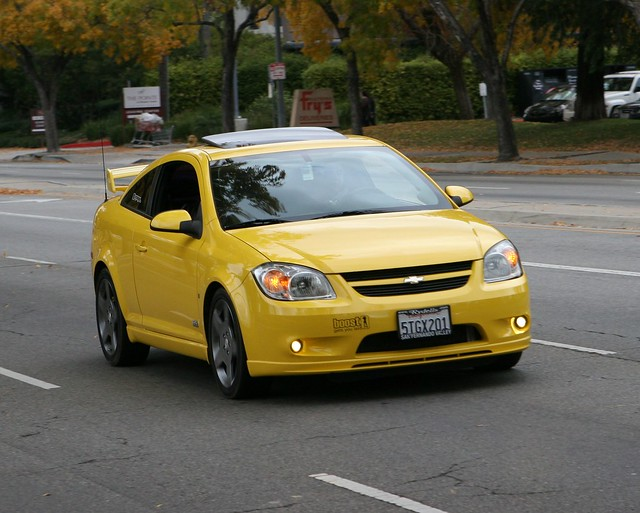 chevrolet sport yellow gm 4 ss delta chevy ? coupe coches compact eternal spoiler cobalt ecotec ???????? inline4 ??????? gmeternal