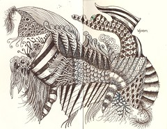 NFT-Wyvern (molossus, who says Life Imitates Doodles) Tags: journal doodle zentangle zendoodle zentangleinspiredart