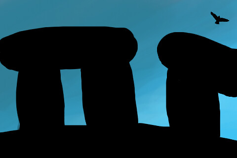 iPhone art - Stonehenge by Novomir