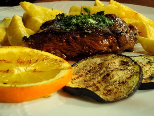 Char-grilled filet steak