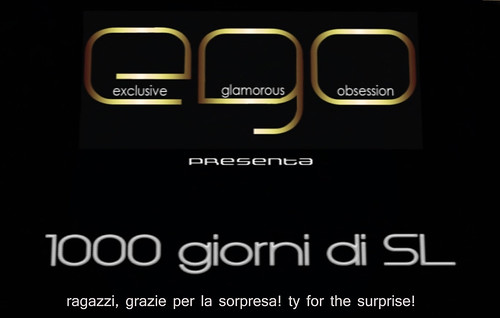 1000 days in sl.. it was a super surprise! grazieeeee