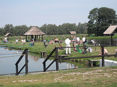 Carp fishing on a Saturday morning (EuCAN Community Interest Company) Tags: poland 2009 eucan milicz baryczvalley