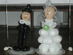 Brautpaar... (kunigunde-luftballons) Tags: offenburg hochzeit lahr luftballons herzen kunigunde kinzigtal ortenau hochzeitsdekoration ballonknstler ballonkunst luftballonkunst recichenbach