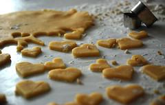 let's bake love. (on tiptoes) Tags: heart biscuit bake herz pltzchen backen herzchen